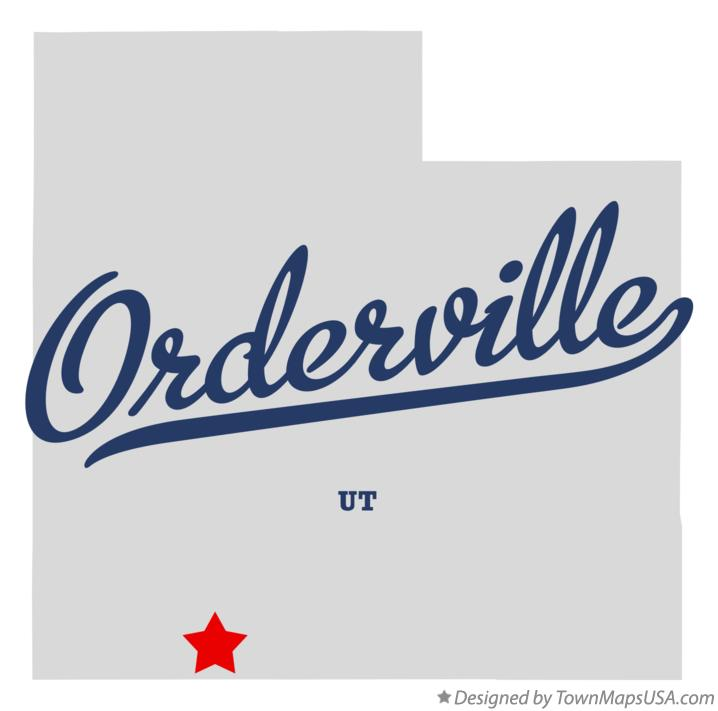 Map of Orderville Utah UT