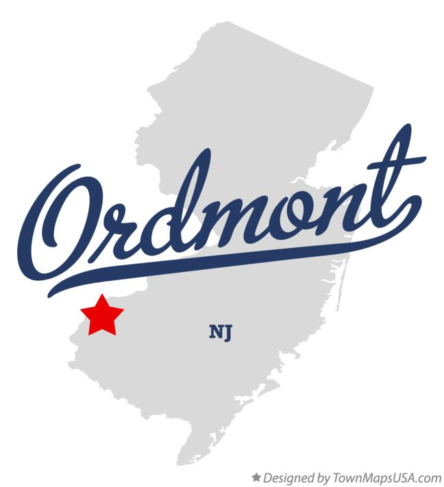 Map of Ordmont New Jersey NJ