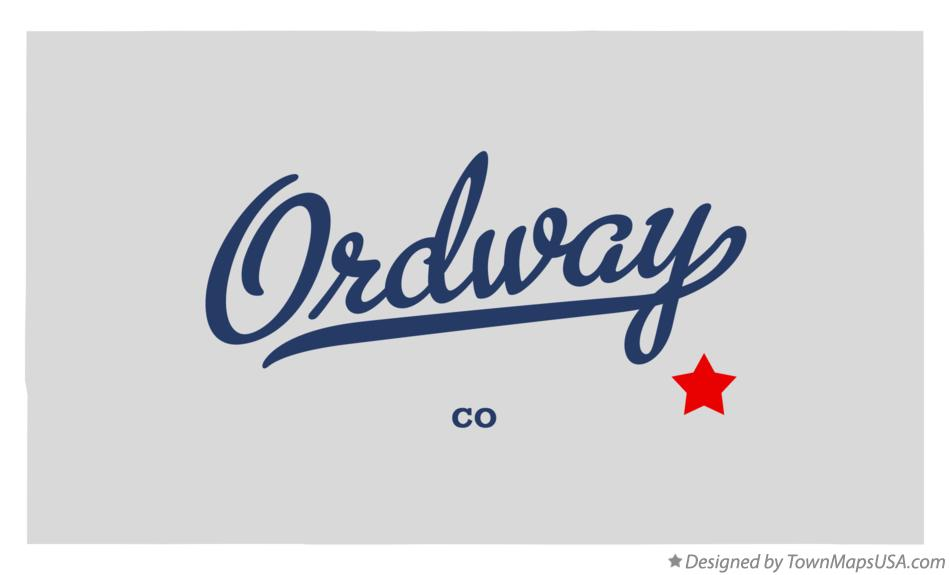 Map of Ordway Colorado CO