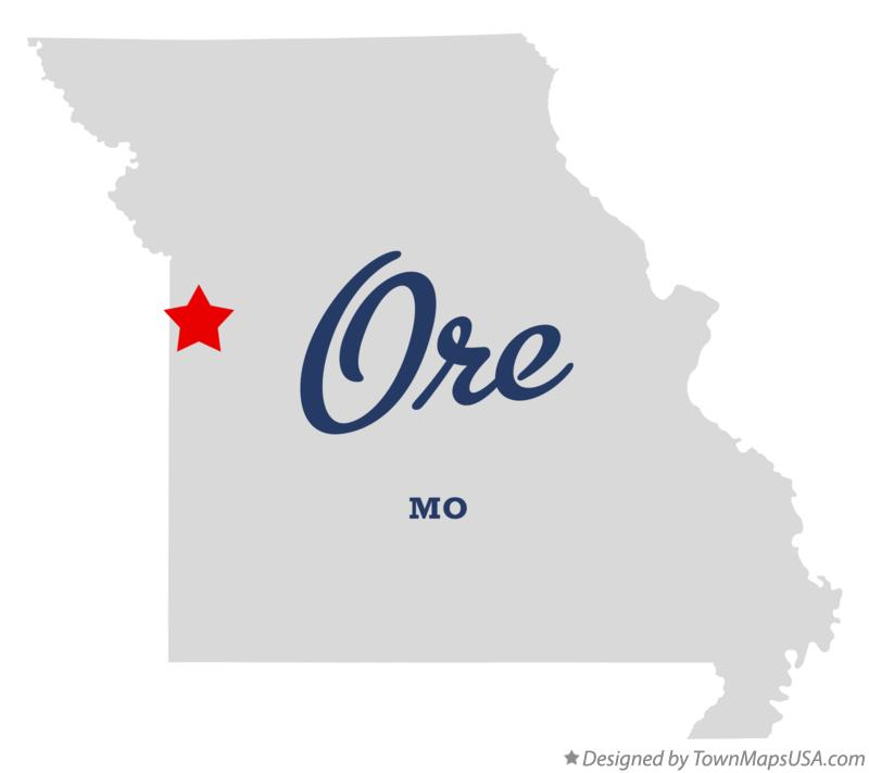 Map of Ore Missouri MO