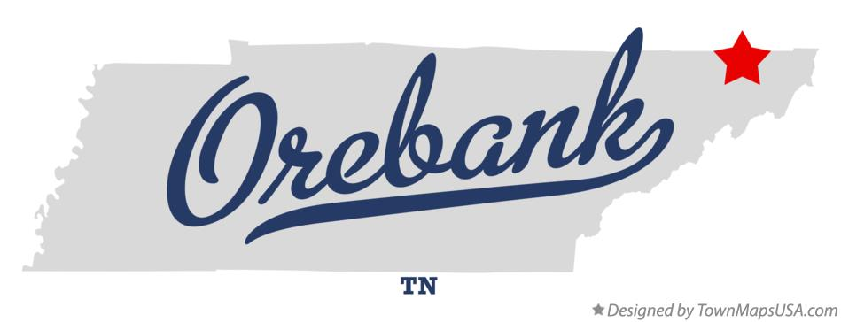Map of Orebank Tennessee TN