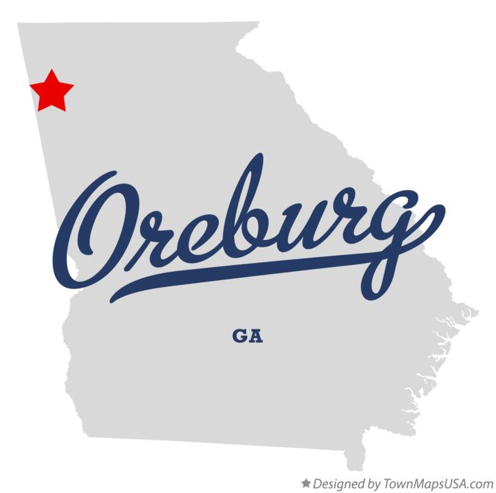 Map of Oreburg Georgia GA