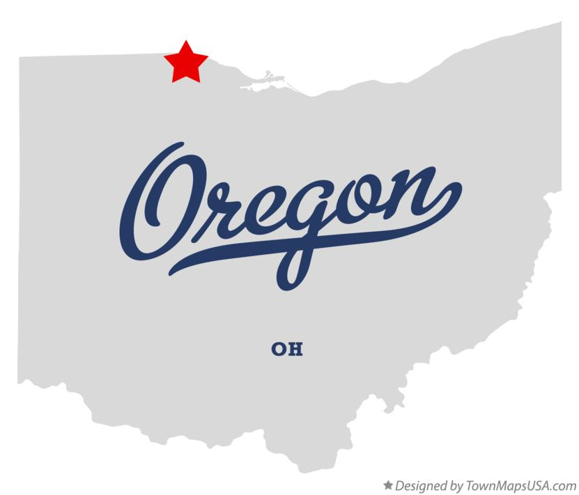 Map Of Oregon Oh Ohio