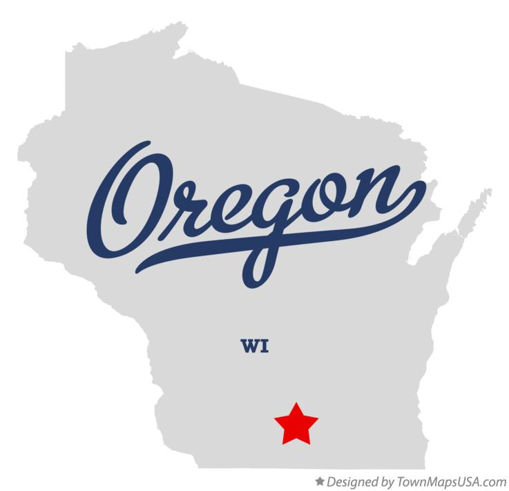 Map of Oregon WI Wisconsin