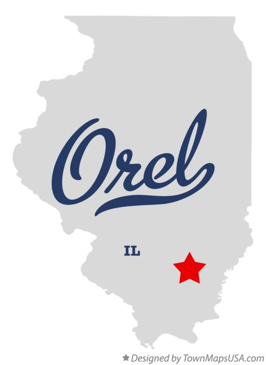 Map of Orel Illinois IL