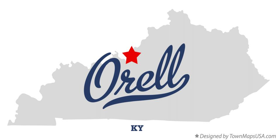 Map of Orell Kentucky KY