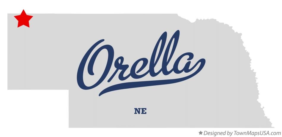 Map of Orella Nebraska NE