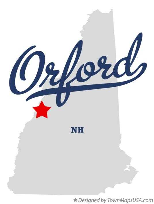 Map of Orford New Hampshire NH