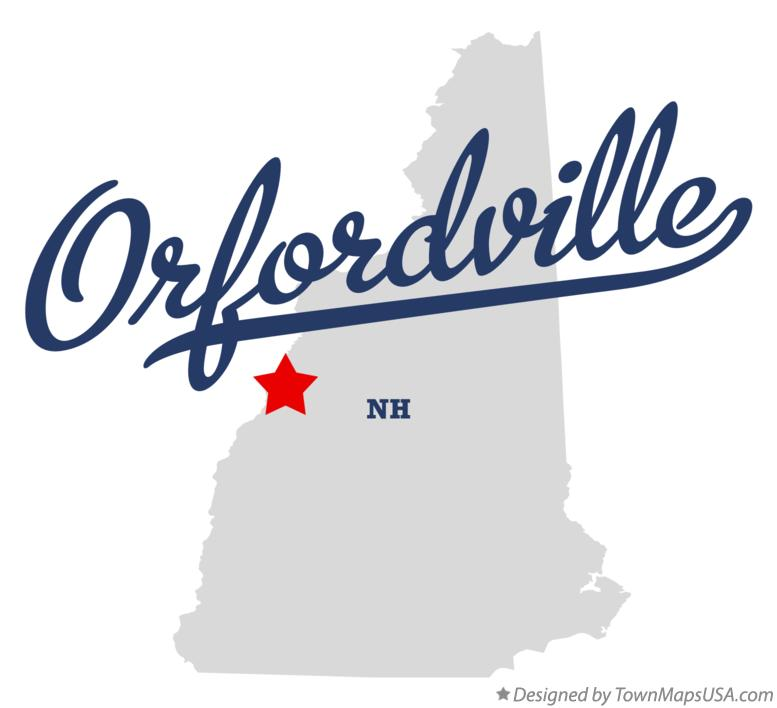 Map of Orfordville New Hampshire NH