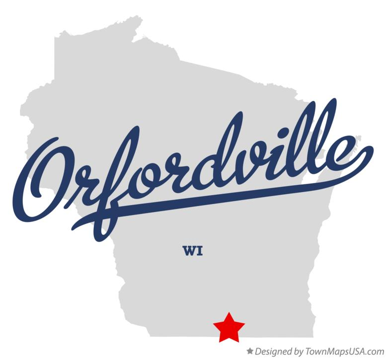 Map of Orfordville Wisconsin WI