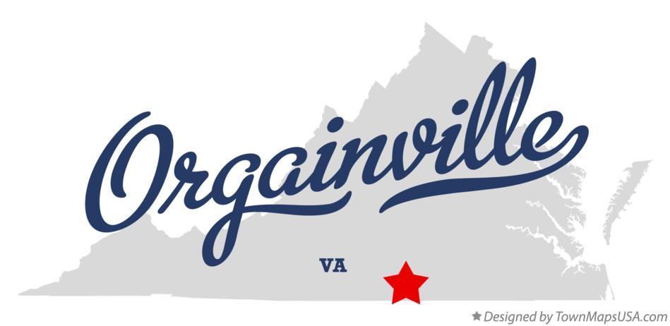 Map of Orgainville Virginia VA