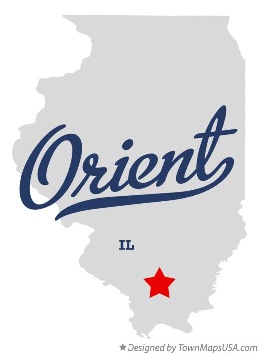 Map of Orient Illinois IL