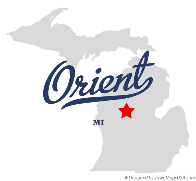 Map of Orient Michigan MI