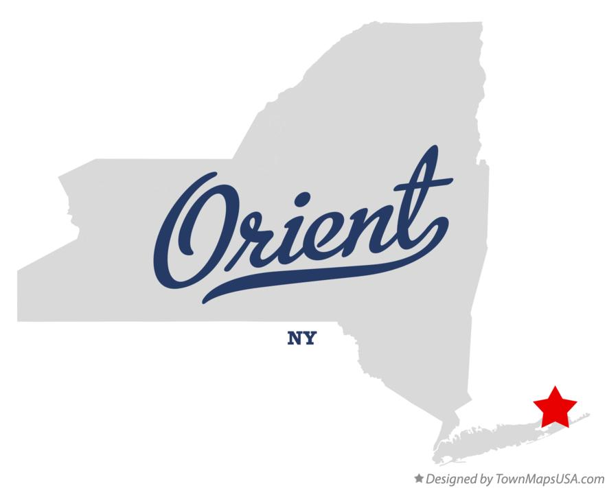 Map of Orient New York NY
