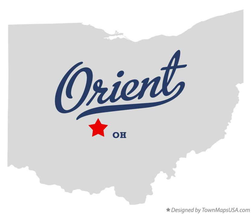 Map of Orient Ohio OH