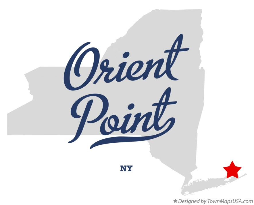 Map of Orient Point New York NY