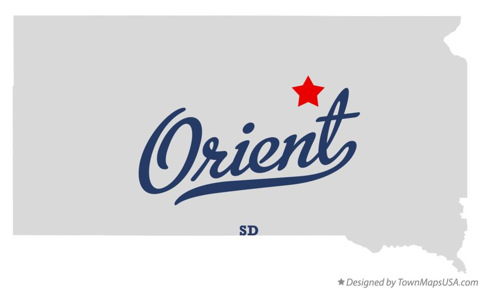 Map of Orient South Dakota SD