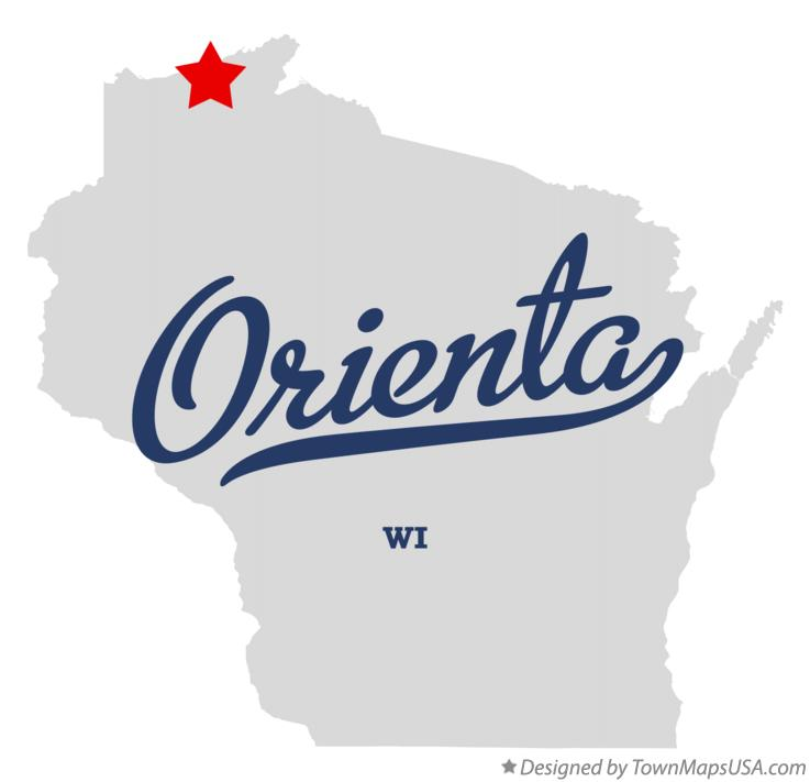 Map of Orienta Wisconsin WI