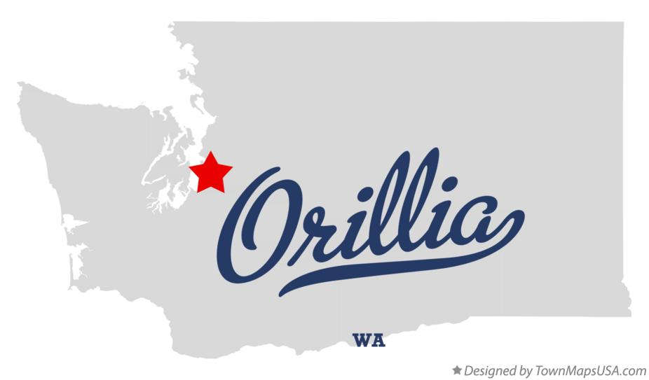 Map of Orillia Washington WA