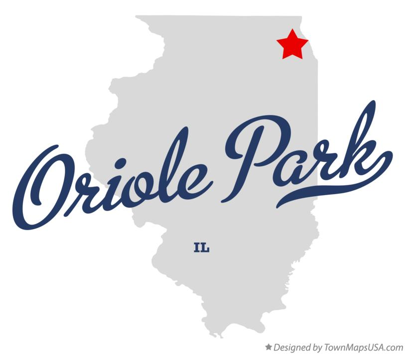 Map of Oriole Park Illinois IL