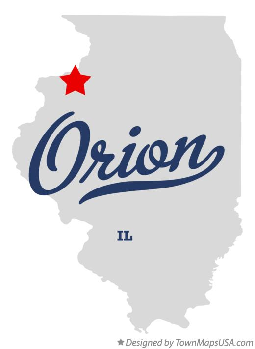 Map of Orion Illinois IL
