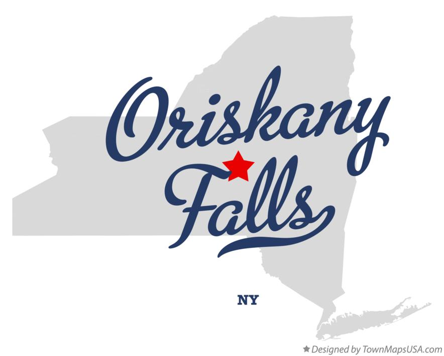 Map of Oriskany Falls New York NY