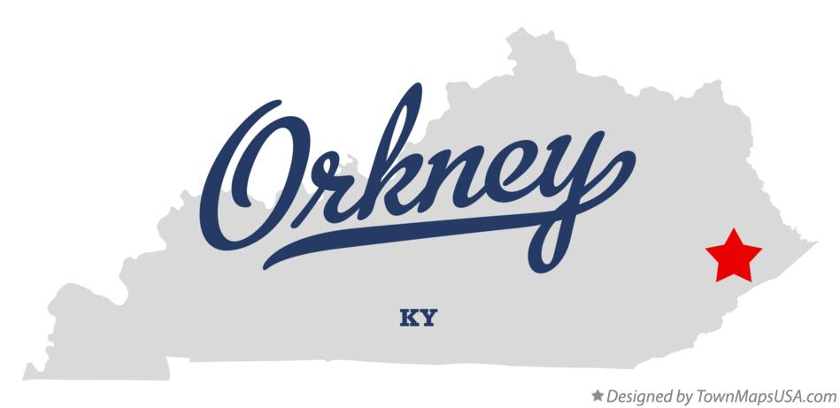 Map of Orkney Kentucky KY