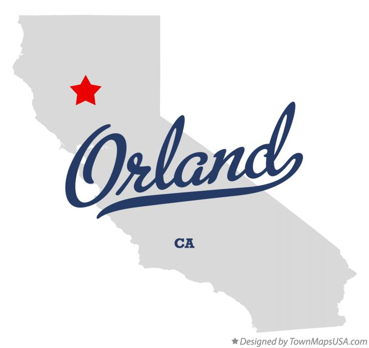 Map of Orland California CA
