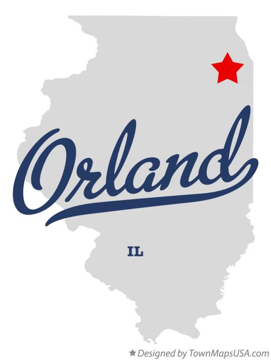 Map of Orland Illinois IL