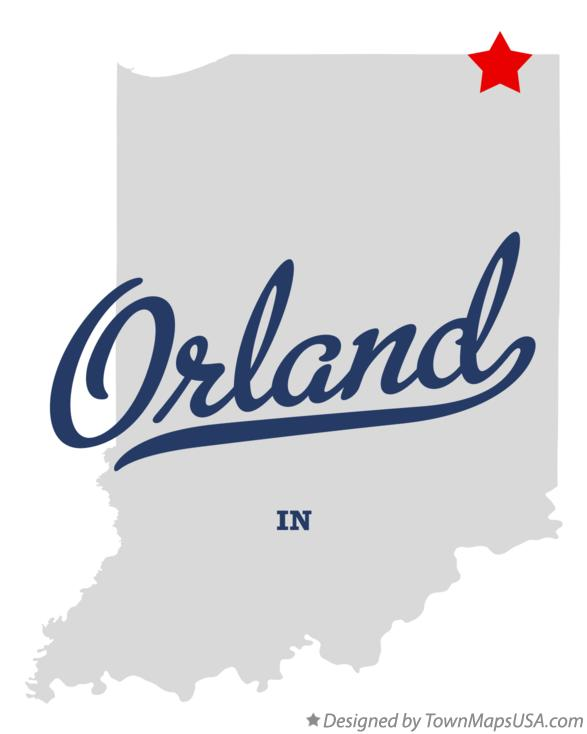 Map of Orland Indiana IN