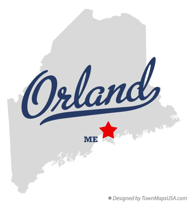 Orland Maine Map.Map Of Orland Me Maine