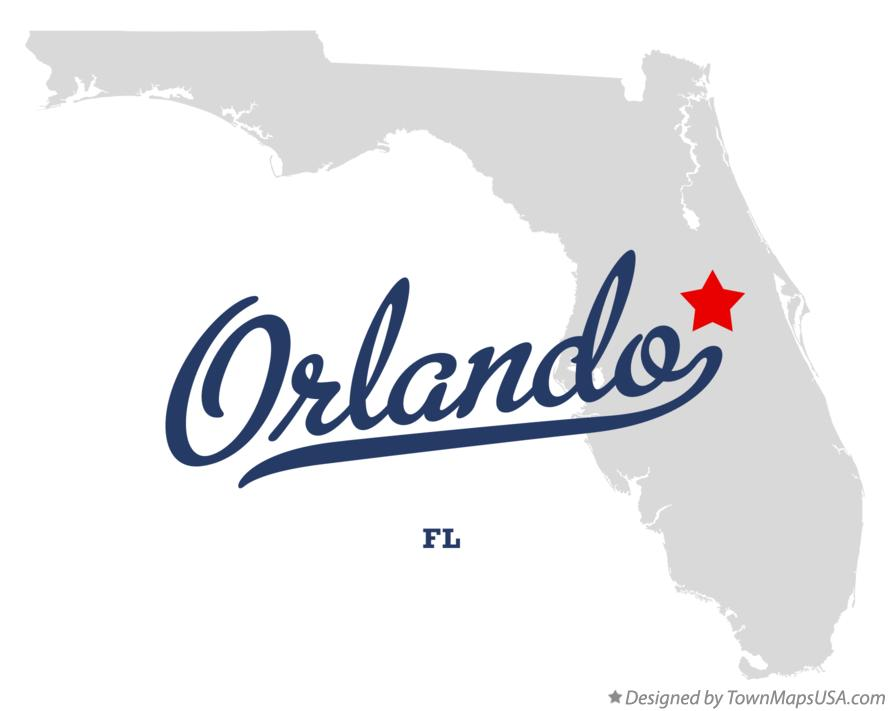 Map of Orlando Florida FL