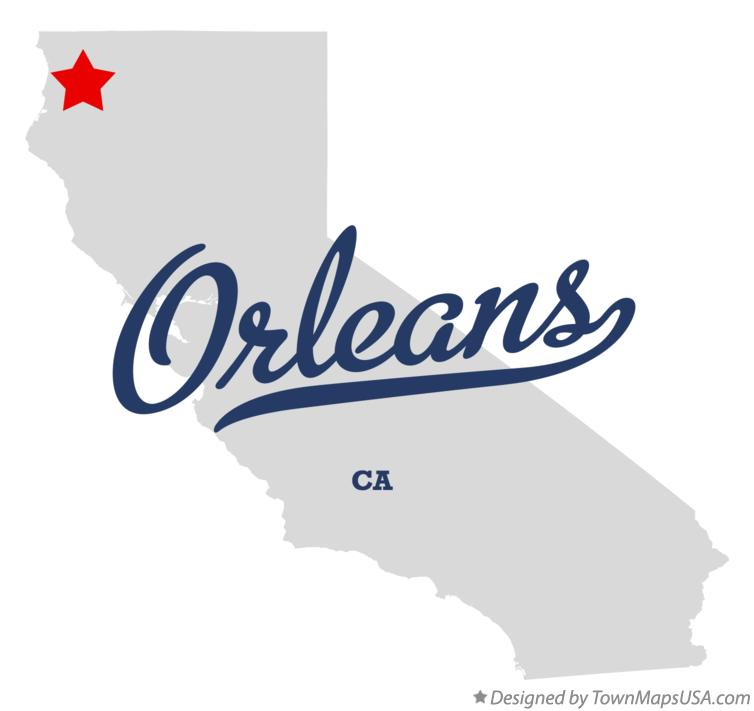Map of Orleans California CA