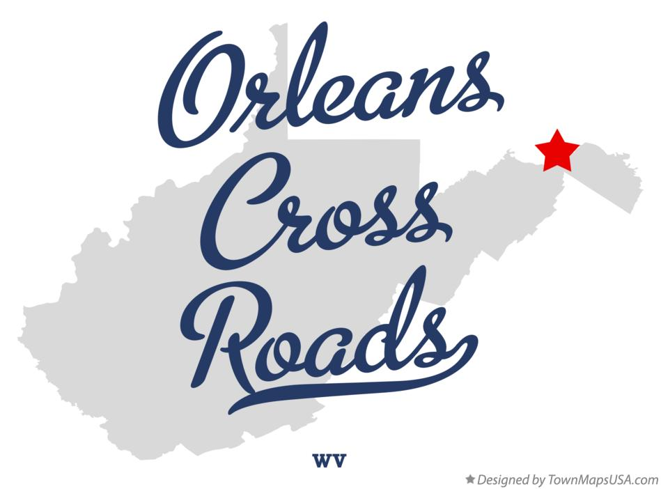 Map of Orleans Cross Roads West Virginia WV