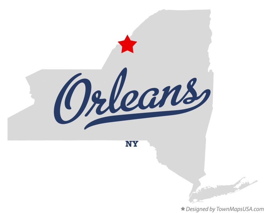 Map of Orleans New York NY