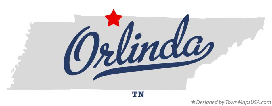 Map of Orlinda Tennessee TN