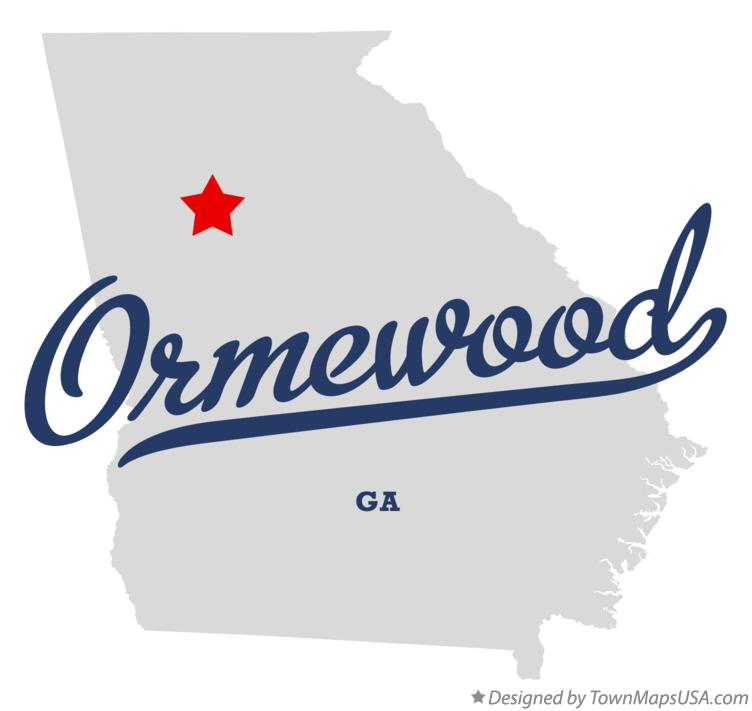 Map of Ormewood Georgia GA
