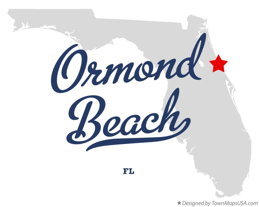 Map Of Ormond Beach Florida.Map Of Ormond Beach Fl Florida