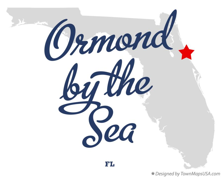 Map of Ormond-by-the-Sea Florida FL