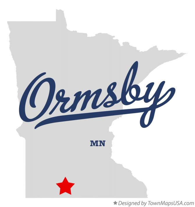 Map of Ormsby Minnesota MN