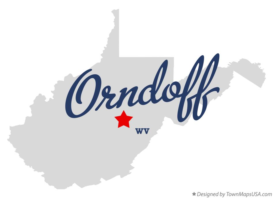 Map of Orndoff West Virginia WV