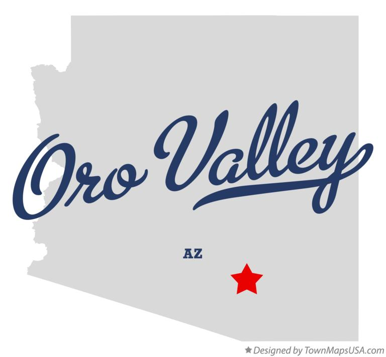 Map of Oro Valley Arizona AZ
