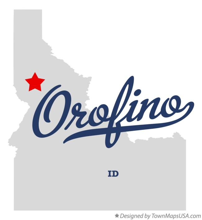 Map of Orofino Idaho ID