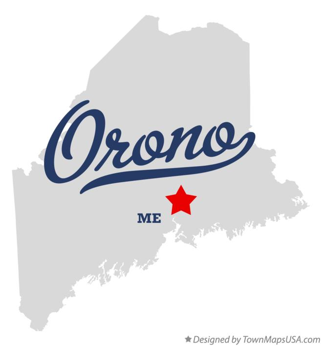 Map of Orono Maine ME