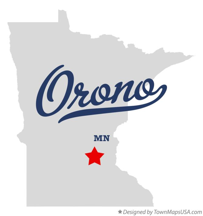 Map of Orono Minnesota MN