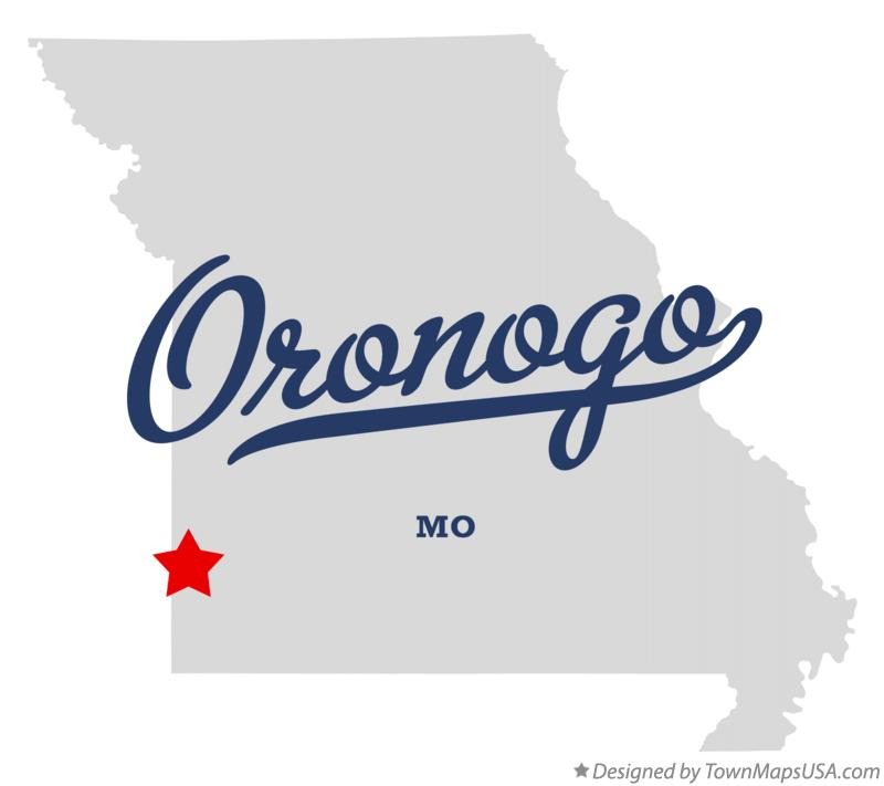 Map of Oronogo Missouri MO