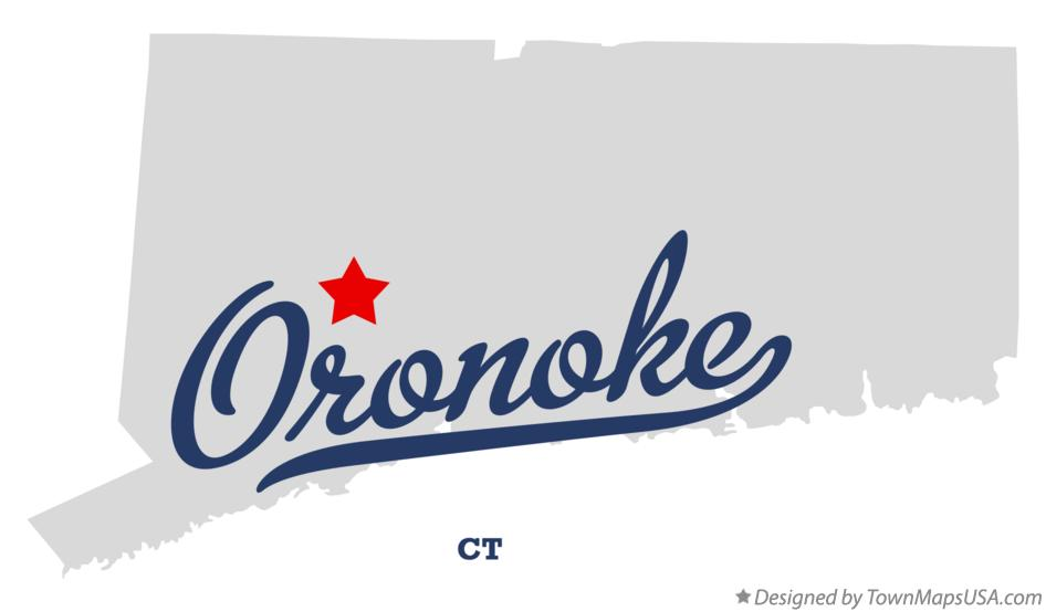 Map of Oronoke Connecticut CT