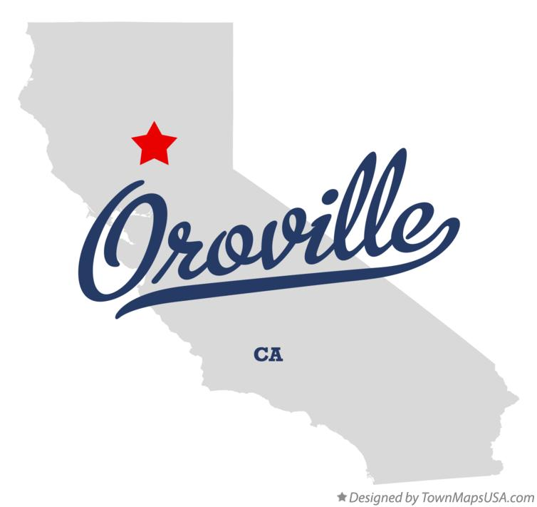 Map of Oroville California CA