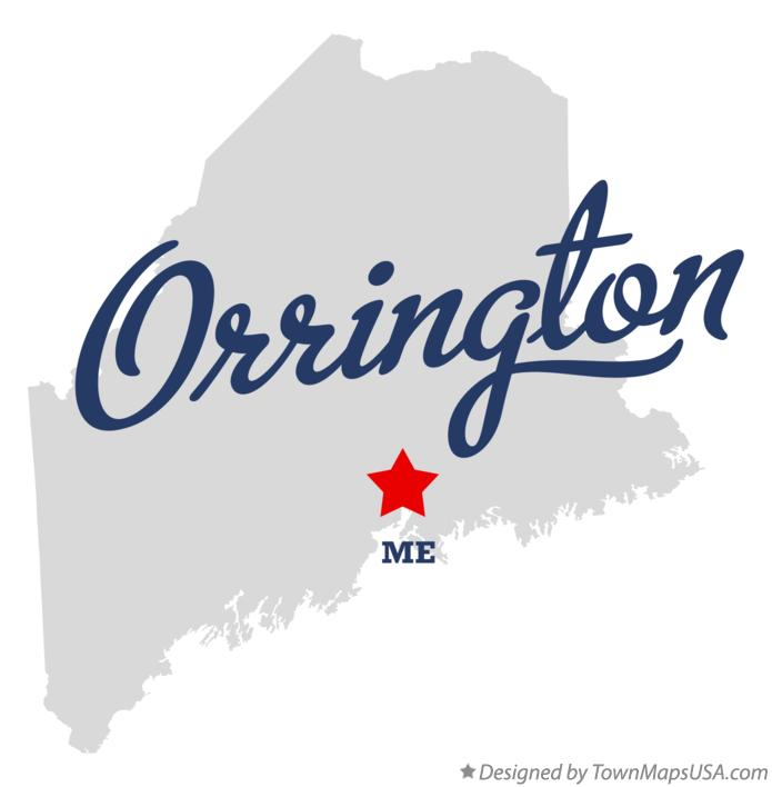 Map of Orrington Maine ME