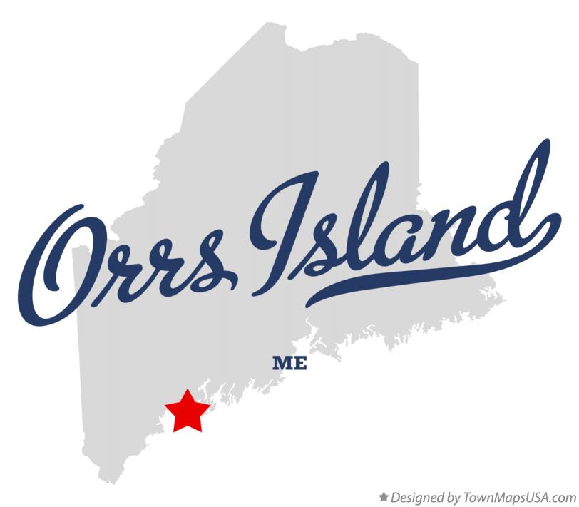 Map of Orrs Island Maine ME
